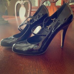 Miu Miu black patent leather heels